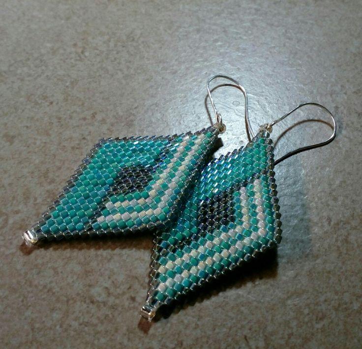 #297 Σκουλαρίκια με χάντρες/Seed bead earrings