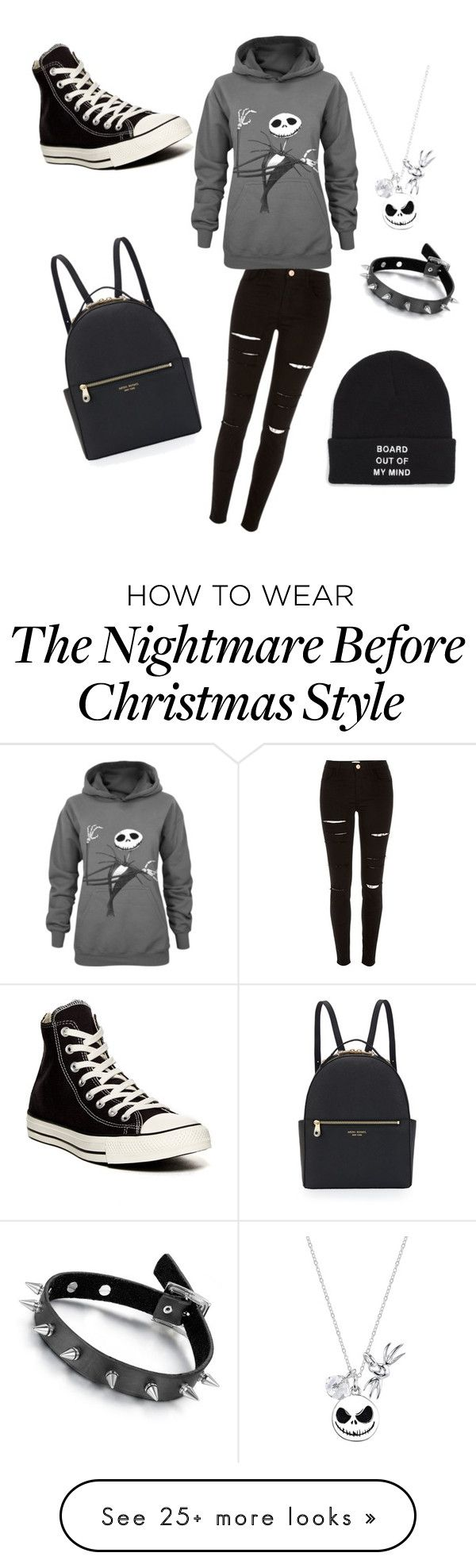 """Untitled #55"" by ellaclapella on Polyvore featuring мода, River Island, Converse, Henri Bendel, Disney, Black Rivet и Vans"