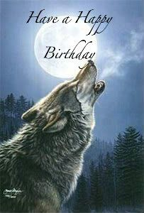 Image result for happy birthday wolf images