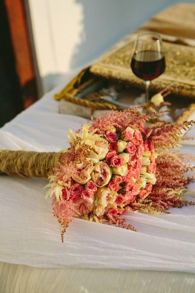 #Santorini #wedding #arrangement by #belanidia #flowershop ... www.belanidia.gr  #photography  by #Thanos Asfis www.facebook.com/belanidia