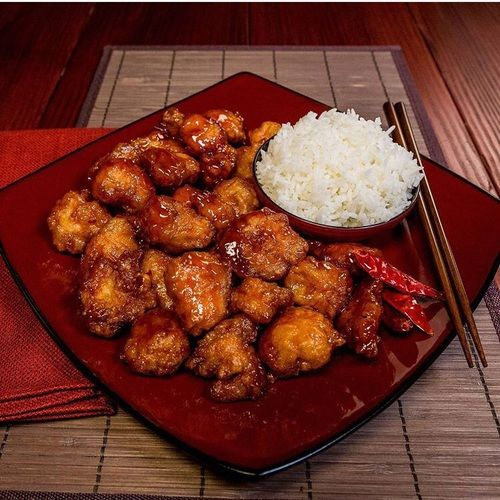 chinese food, general tso chicken, and yum image