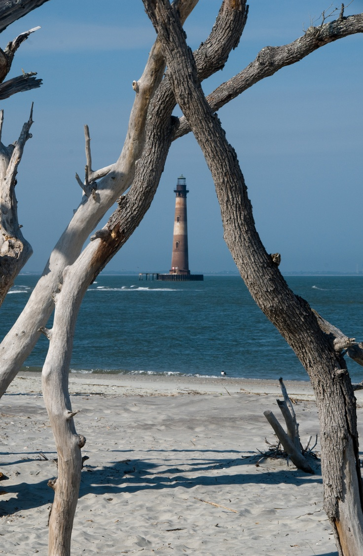 Morris Island Lighthouse - Morris Island entrance to Charleston Harbor, South Carolina, US