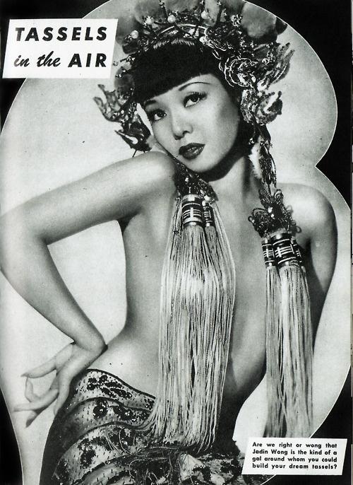 Jadin Wong burlesque dancer 1940's: Jadin Wong, Wong 1950S, Performing Jadin, Vintage Portraits, Vintage Women, Asian Girls, Vintage Beautiful, Burlesque Queen, Asian Pinup
