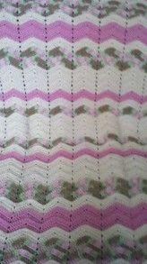 Free Crochet Ripple Baby Afghan Pattern.