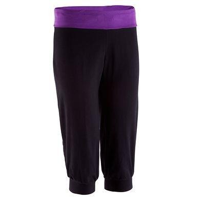 Fitness_habi gym Fitness - Yoga kuitbroek in biokatoen DOMYOS - Fitnesskleding