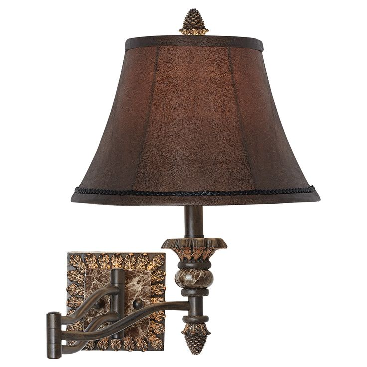 Pinecone Elegance Swivel Wall Lamp