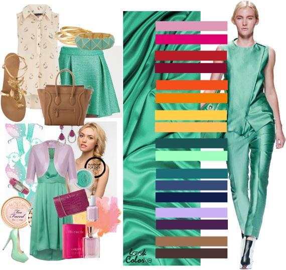 Какие цвета сочетаются с зеленым? Зеленый цвет в одежде