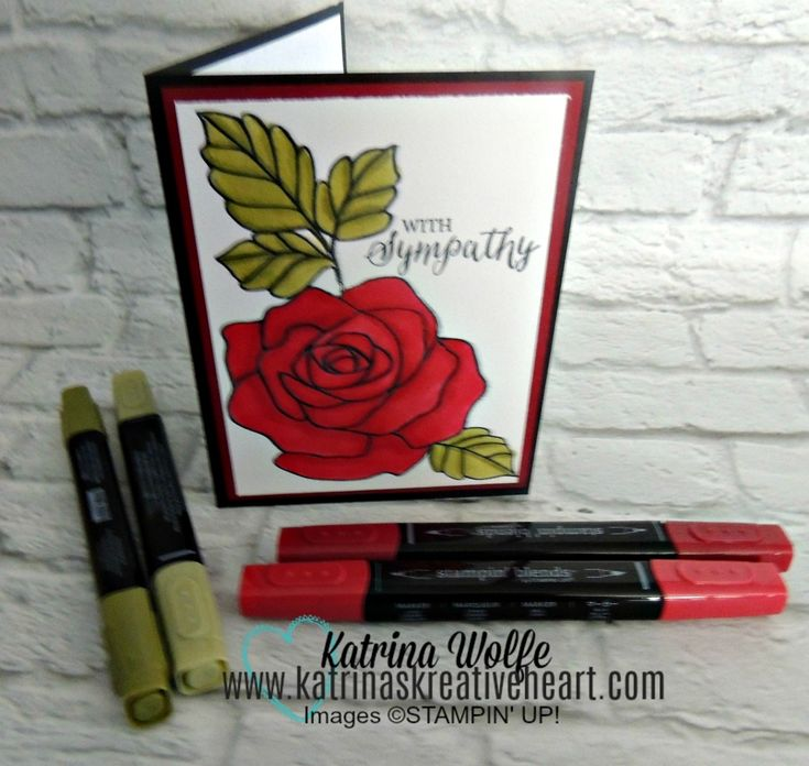 Stampin' Blends and the Wondrous Rose Stamp Set