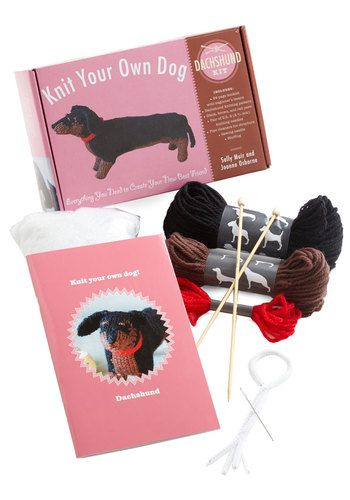 Knit Your Own Dog Kit in Dachshund, @ModCloth