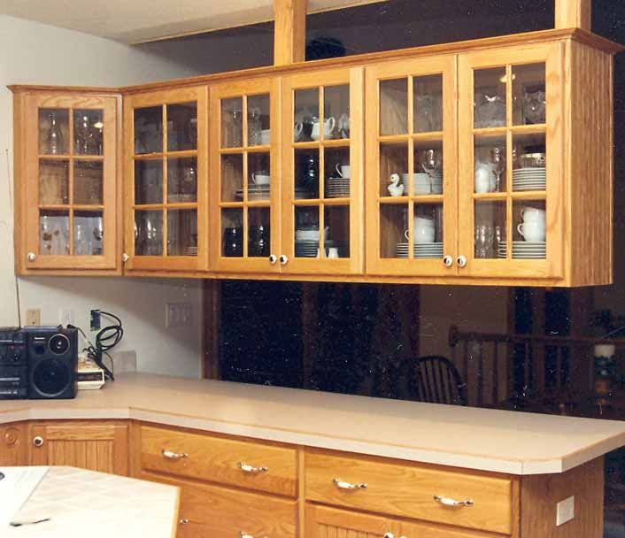 Kitchen Cabinet Doors With Glass Inserts | Update Kitchen Cabinets With  Glass Inserts : Rooms :