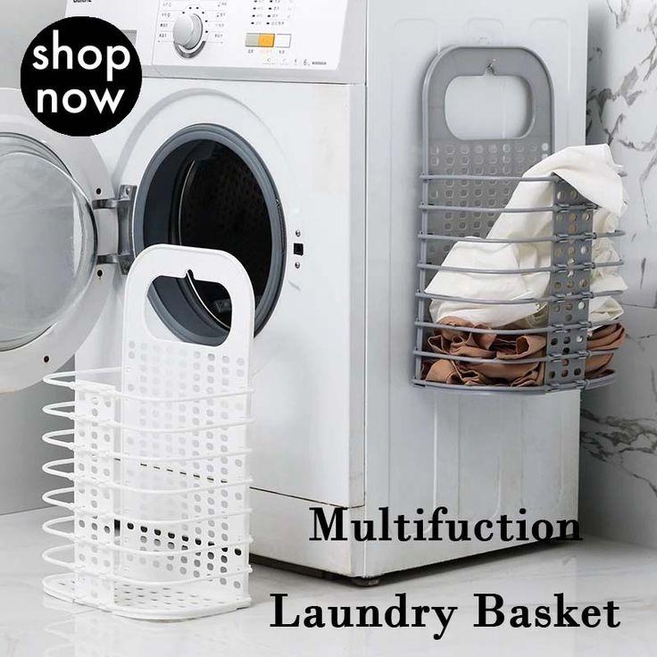 Household Folding Storage Wall Hanging Laundry Basket