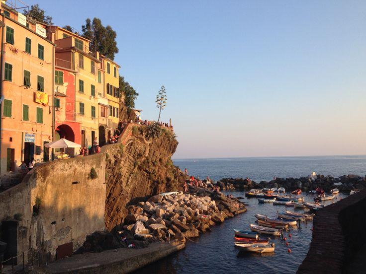 Riomaggiore, Cinque Terre Italy.... view from my room ....Italian riviera