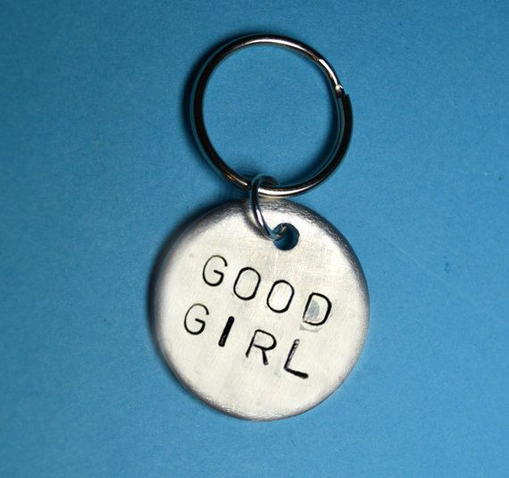 Good girl Daughter giftpets Keychain First by BeesHandStampedGifts