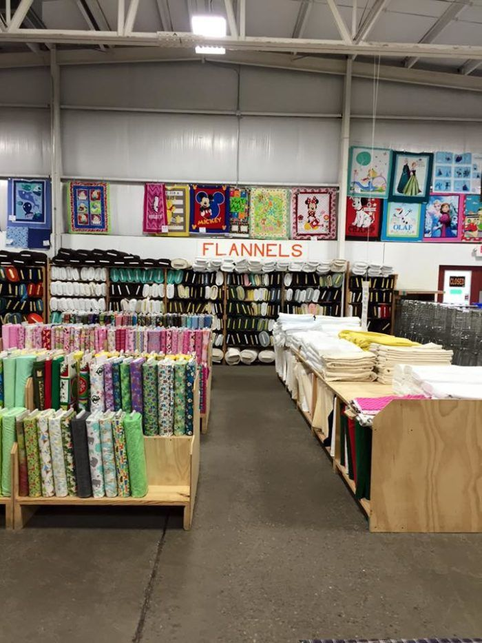 The Massive Fabric Warehouse In Ohio Zinck S Fabric Outlet Is A Crafter S Dream Come True Fabric Outlet Sewing Fabric Fabric Stores Online