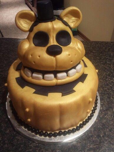 Five Nights at Freddy's birthday Cake | Fnaf cake, Kids ...