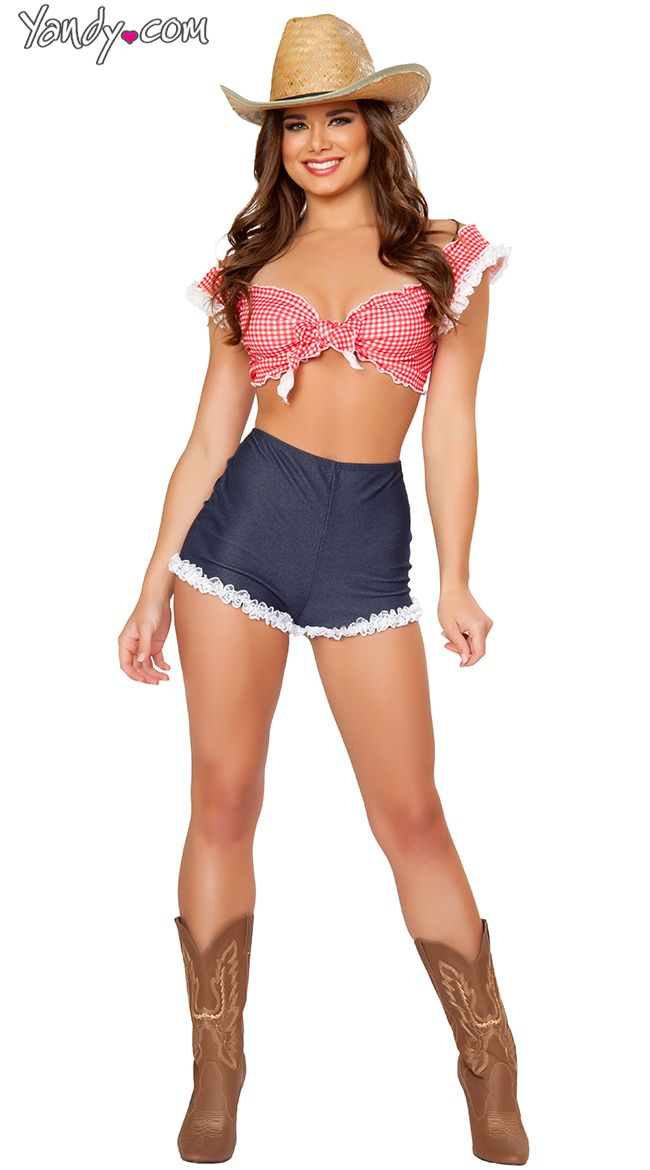 Exclusive Pin Up Cowgirl Costume, Exclusive Sexy Cowgirl -1173