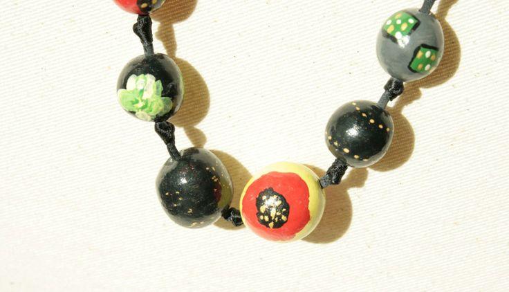 SymSym#clay beads#margele lut poppie#flower