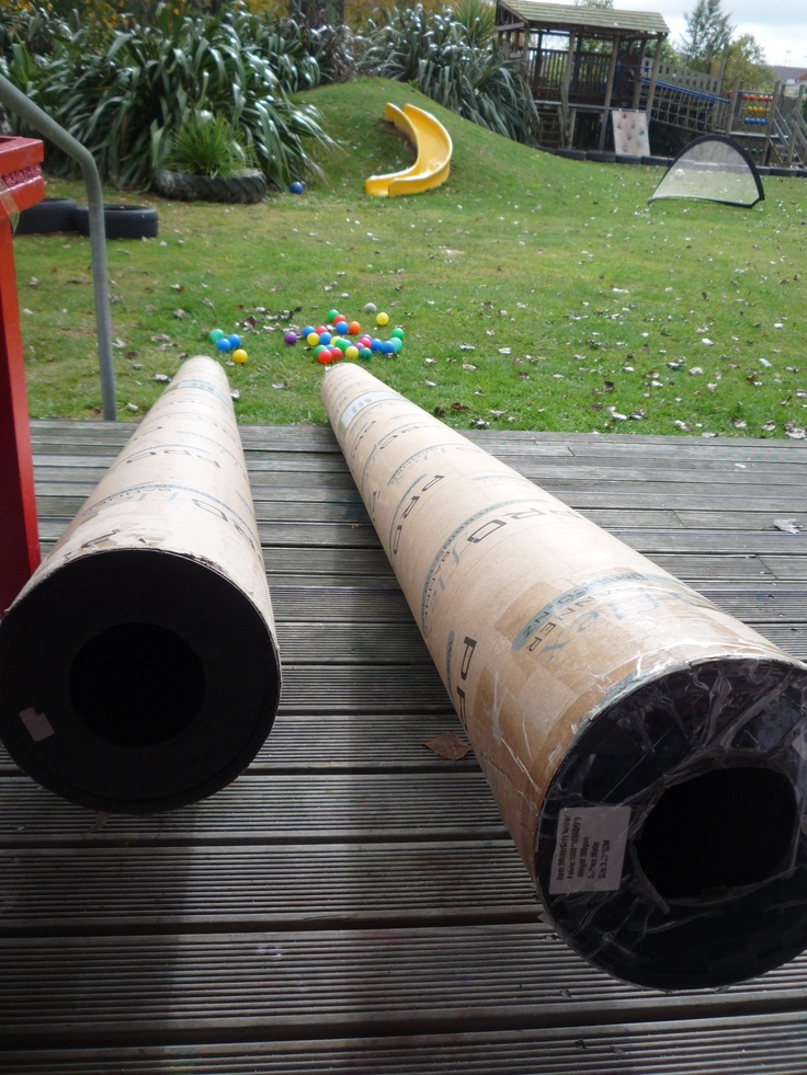 Cylinders are re-purposed to become a fascinating posting resource @ Peachgrove Playcentre.