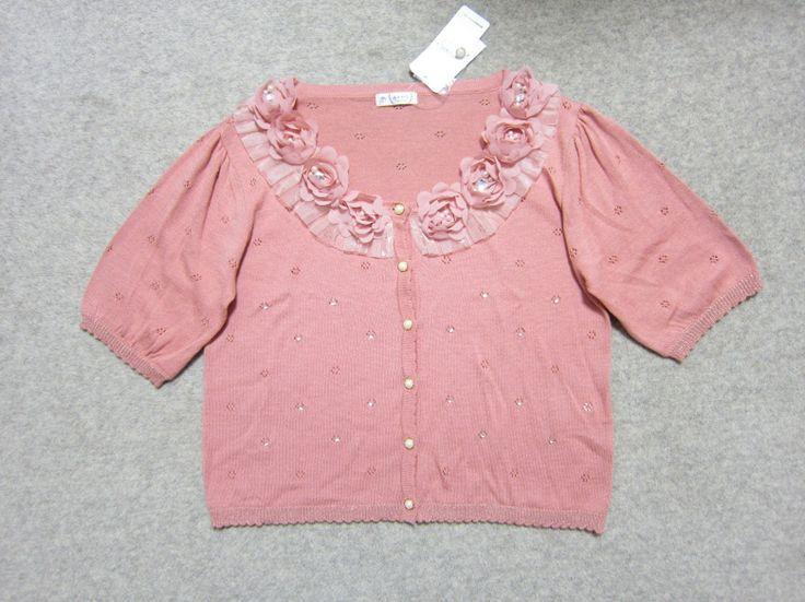 2014年春夏物の アクシーズファムのピンク色のカーディガンです  投稿者のfacebook https://www.facebook.com/yasuko.takahashi.969   #アクシーズファム #カーディガン #レディースファッション