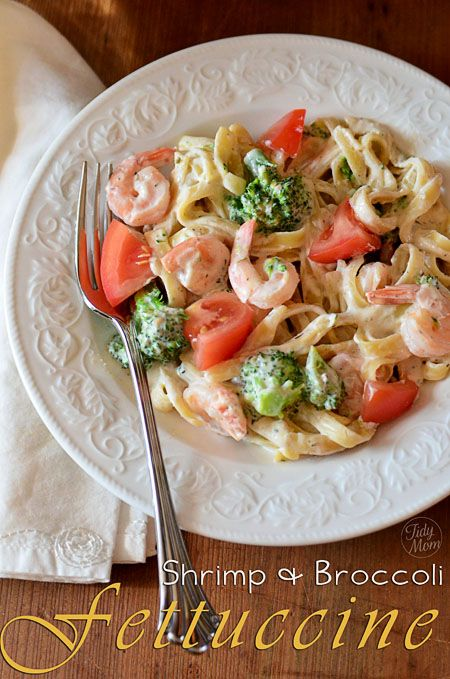 Shrimp Broccoli Fettuccine Philadelphia Recipesphiladelphia Cream