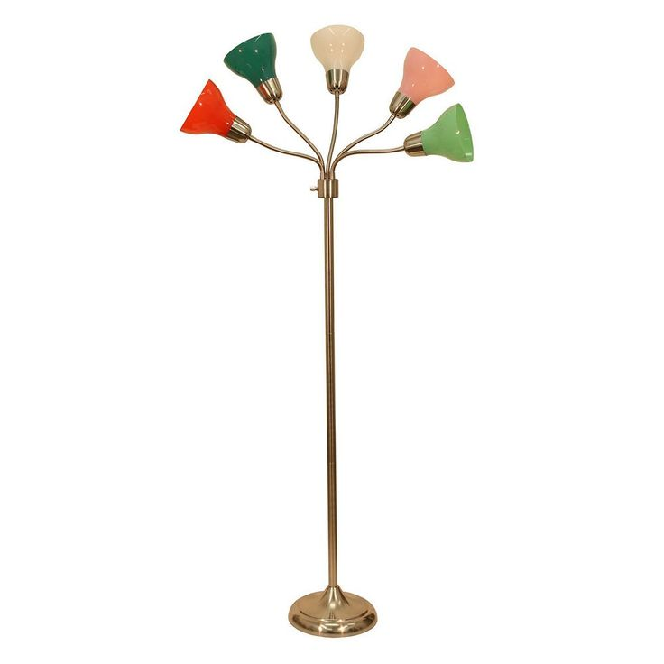 Decor Therapy 5-Light Multicolored Floor Lamp, Multicolor
