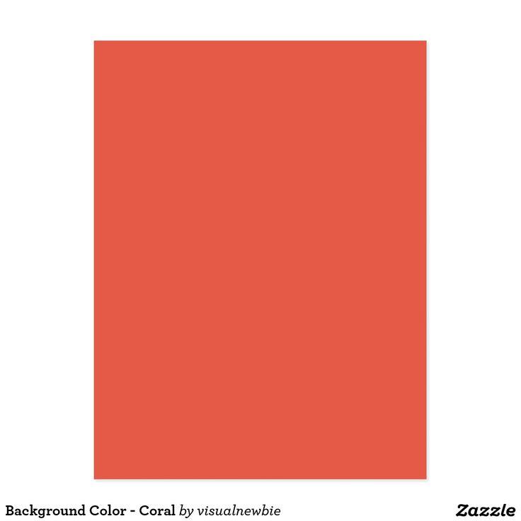 Achtergrond Kleur - Koraal Briefkaart