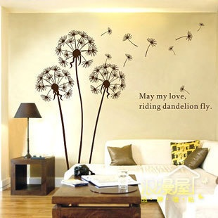 May my love, like dandelions, fly. Wonder if I could paint this on my bedroom wall?