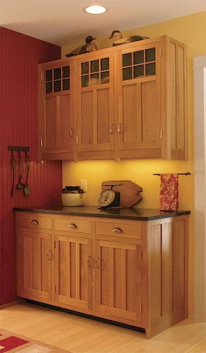 100 best oak kitchen cabinets ideas decoration for farmhouse style 10 mission style kitchen on kitchen interior cabinets id=66661