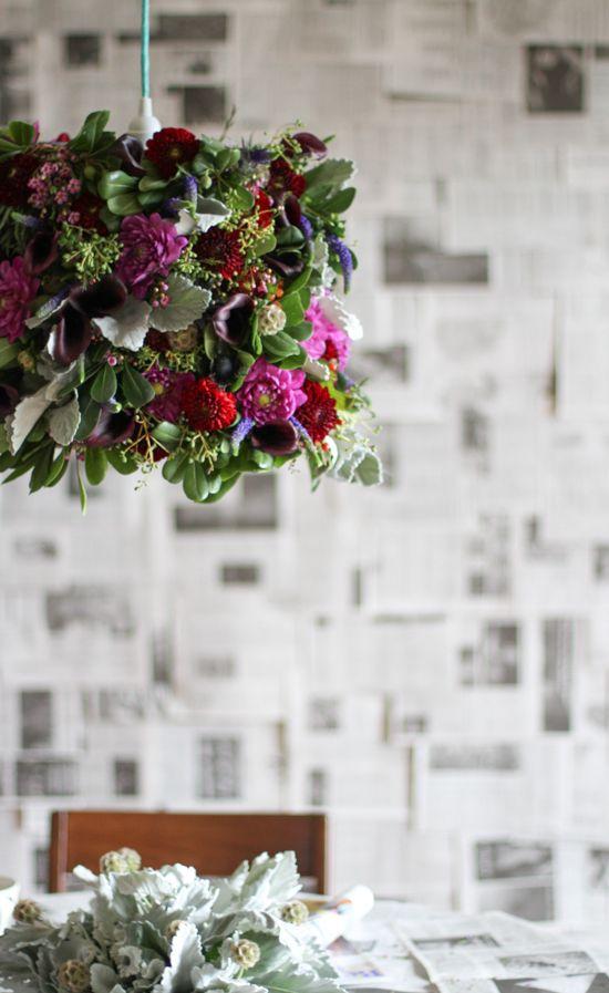 DIY flower pendant project via Paper & Stitch