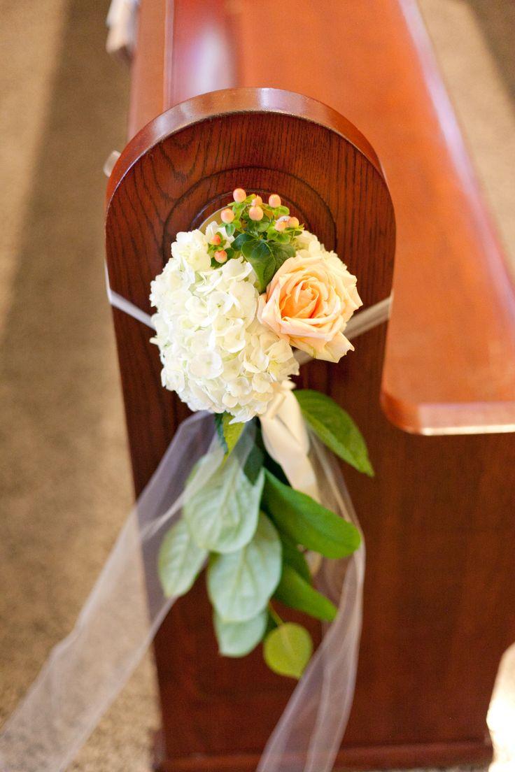 New Orleans Wedding Catholic Wedding Fat Cat Flowers Pew D Cor Pew