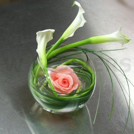 W Flowers product: Mini Calla Centerpiece
