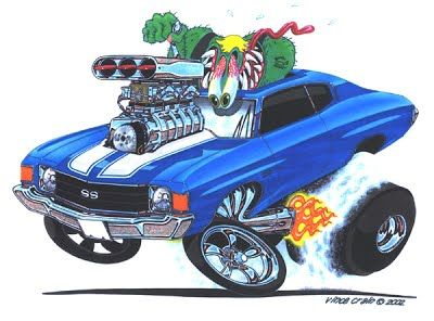 """Monster Muscle"" 1972 Chevelle Super Sport by Vince Crain"