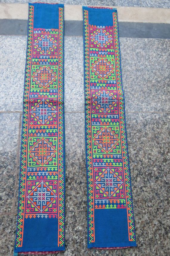 Vintage Hmong Fabric handmade tapestry textiles hill by dellshop, $15.99