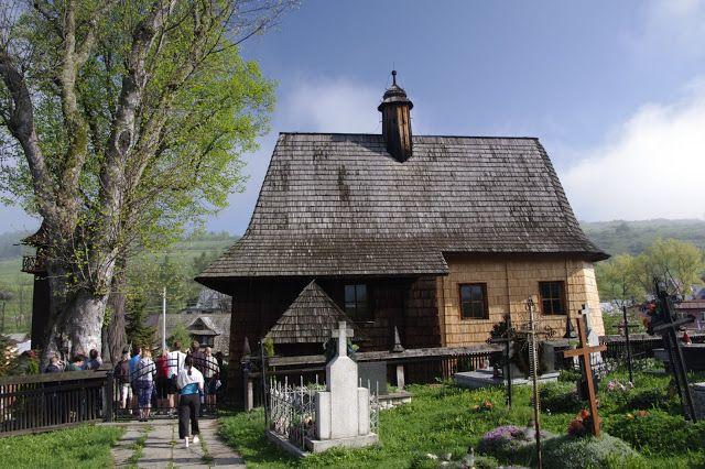 Wooden church in Trybsz, Poland. www.simplycarpathians.com