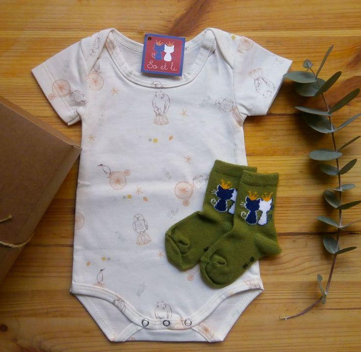 Box bébé | Tout en so et li | body fête foraine orange et chaussettes Jungle