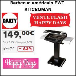 #missbonreduction; Vente flash Happy Days: remise de 63% sur le Barbecue américain EWT KITCBQMANhttp://www.miss-bon-reduction.fr//details-bon-reduction-Darty-i268-c1831281.html