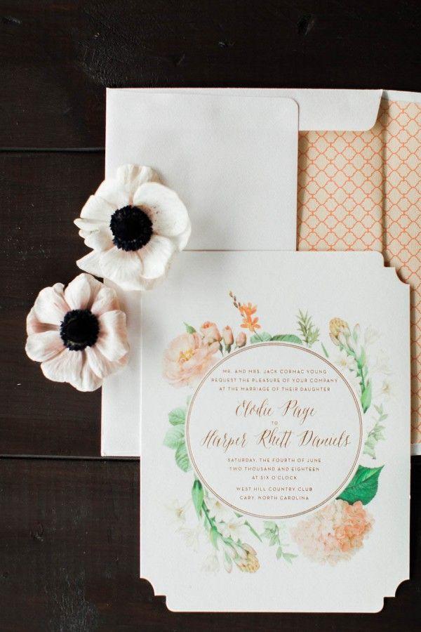 lotus flower wedding invitations%0A Dreamy Botanical Bridal Inspiration