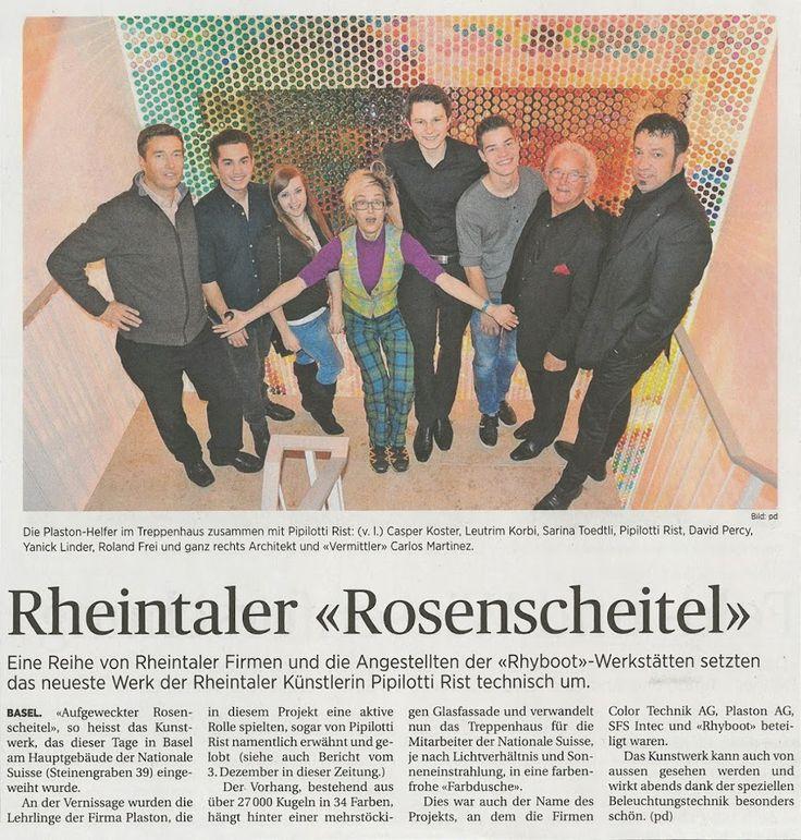#Rheintaler Rosenscheitel | Ein durch und durch Rheintalisches Projekt der #Künstlerin #Pipilotti Rist |#CarlosMartinezArchitekten