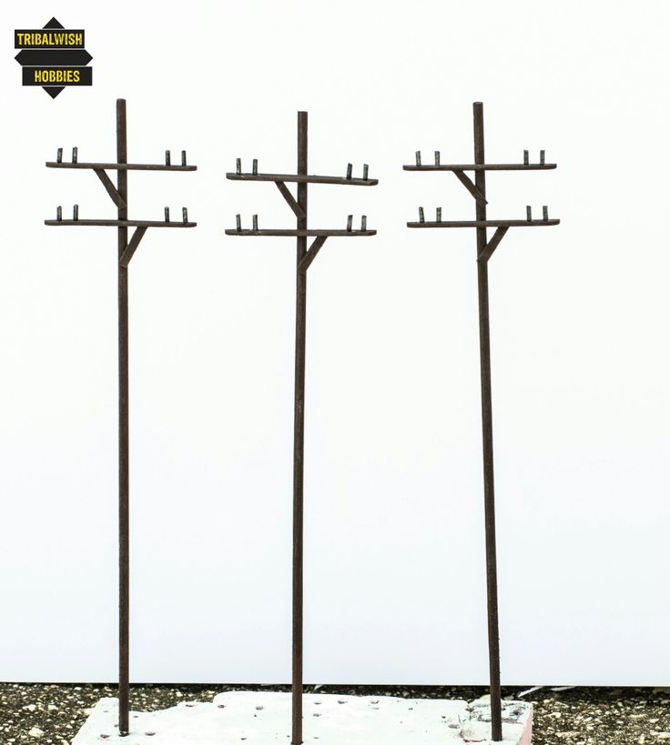 1/35 scale Telephone Poles made by Tribalwish Hobbies.