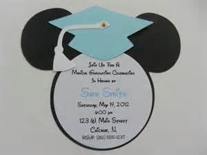 Mickey Mouse Graduation Invitation Party---Cute preschool or kindergarten grad party idea