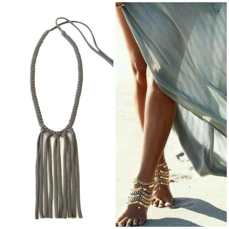 Hello Summer! gicreazioni.etsy.com #tasselnecklace #fringes #necklace #etsy #handmade