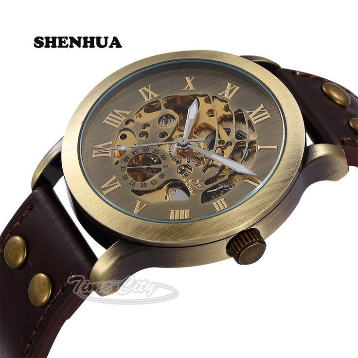 $24.60 (Buy here: https://alitems.com/g/1e8d114494ebda23ff8b16525dc3e8/?i=5&ulp=https%3A%2F%2Fwww.aliexpress.com%2Fitem%2F2015-Skeleton-Hollow-Vintage-Retro-Men-s-Automatic-Wrist-watches-Self-Wind-SHENHUA-Mechanical-Waterproof-Leather%2F32412685260.html ) 2016 Skeleton Hollow Vintage Retro Men's Automatic Wrist watches Self Wind SHENHUA Mechanical Waterproof Leather Strap Hot Clock for just $24.60