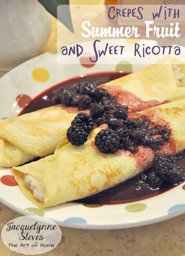 Use all those berries you picked in this great breakfast or brunch recipe.  #delicious #summerrecipes
