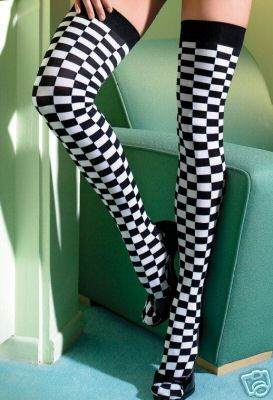 Checkerboard stockings