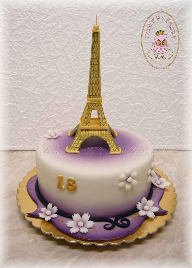 Dort s Eiffelovkou : Cake with Eiffel Tower