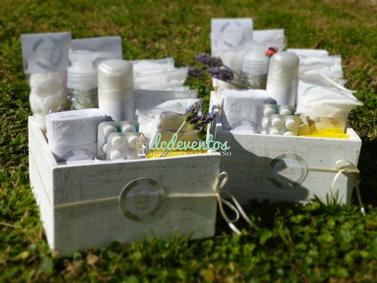 Kit de baño personalizados para Damas y Caballeros. #wedding #casamientos #kitdebaño