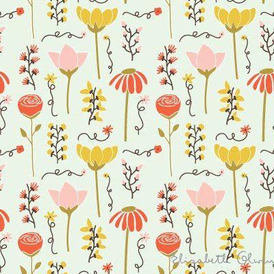 print & pattern: Patterns Design, Prints Patterns, Floral Patterns, Elizabetholwen, Linens Inspiration, Surface Patterns, Elizabeth Olwen Spr, Patterns Illustrations, Patterns Prints Color
