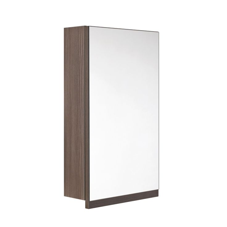 Cooke & Lewis Ardesio Single Door Bodega Grey Mirror Cabinet | Departments | DIY at B&Q