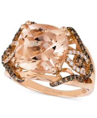 Angara Brown Diamond Bypass Halo Ring in Rose Gold - Angaras Coffee Diamond 4K2dfVp