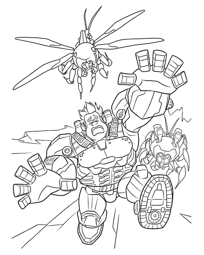 1000 Images About Wreck It Ralph Coloring